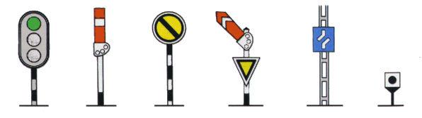 indicatoare feroviare de atentionare si informare fixe